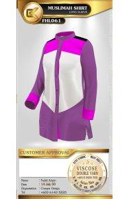 F1 Shirt Male Female Muslimah Shirt, Short Quarter Long Sleeve (4)